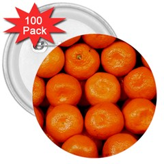 Oranges 1 3  Buttons (100 Pack)