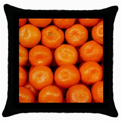 Oranges 1 Throw Pillow Case (black)