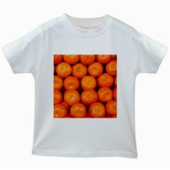 Oranges 1 Kids White T Shirts