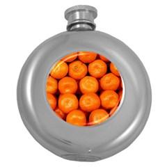 Oranges 1 Round Hip Flask (5 Oz)