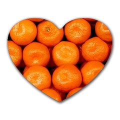 Oranges 1 Heart Mousepads