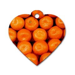 Oranges 1 Dog Tag Heart (two Sides)
