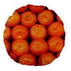 Oranges 1 Large 18  Premium Round Cushions