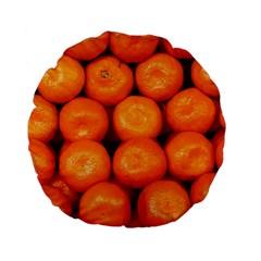 Oranges 1 Standard 15  Premium Flano Round Cushions