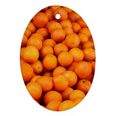 Oranges 3 Oval Ornament (two Sides)