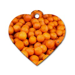 Oranges 3 Dog Tag Heart (two Sides)