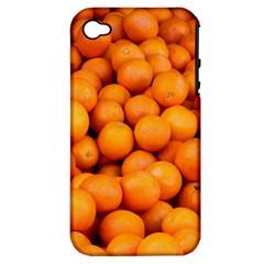 Oranges 3 Apple Iphone 4/4s Hardshell Case (pc+silicone)