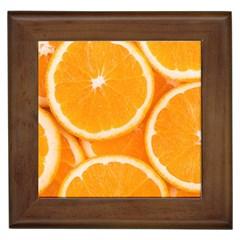 Oranges 4 Framed Tiles