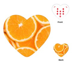 Oranges 4 Playing Cards (heart)