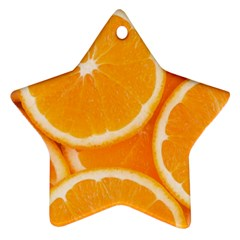 Oranges 4 Star Ornament (two Sides)