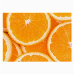 Oranges 4 Large Glasses Cloth
