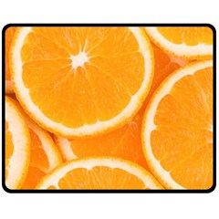 Oranges 4 Fleece Blanket (medium)