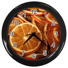 Oranges 5 Wall Clocks (black)