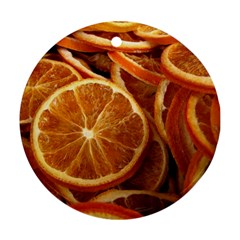 Oranges 5 Round Ornament (two Sides)