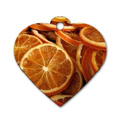 Oranges 5 Dog Tag Heart (two Sides)