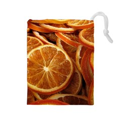 Oranges 5 Drawstring Pouches (large)