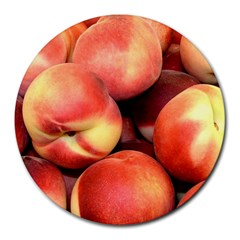 Peaches 1 Round Mousepads