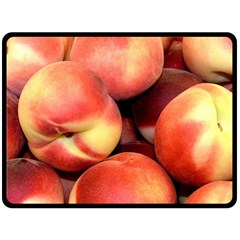 Peaches 1 Double Sided Fleece Blanket (large)