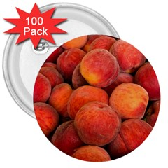 Peaches 2 3  Buttons (100 Pack)