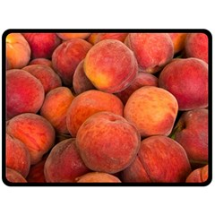 Peaches 2 Double Sided Fleece Blanket (large)
