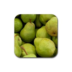 Pears 1 Rubber Square Coaster (4 Pack)