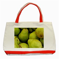 Pears 1 Classic Tote Bag (red)