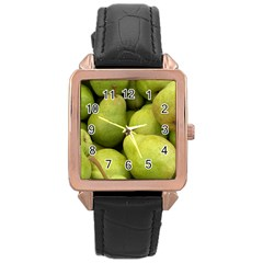 Pears 1 Rose Gold Leather Watch