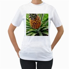 Pineapple 2 Women s T Shirt (white) (two Sided)
