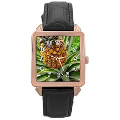 Pineapple 2 Rose Gold Leather Watch