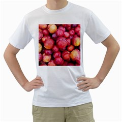 Plums 1 Men s T Shirt (white) (two Sided)