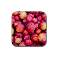 Plums 1 Rubber Coaster (square)