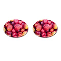 Plums 1 Cufflinks (oval)