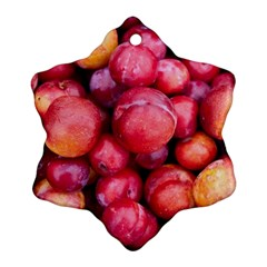Plums 1 Snowflake Ornament (two Sides)