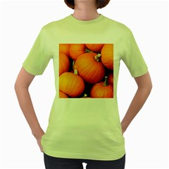Pumpkins 1 Women s Green T Shirt