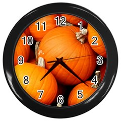 Pumpkins 1 Wall Clocks (black)