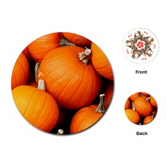 Pumpkins 1 Playing Cards (round)
