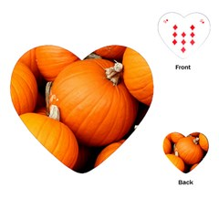 Pumpkins 1 Playing Cards (heart)