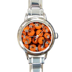 Pumpkins 2 Round Italian Charm Watch