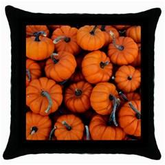 Pumpkins 2 Throw Pillow Case (black)