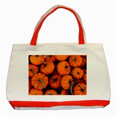 Pumpkins 2 Classic Tote Bag (red)