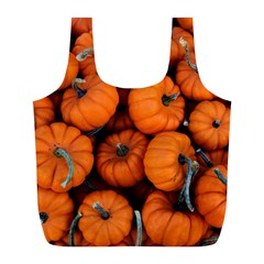 Pumpkins 2 Full Print Recycle Bags (l)