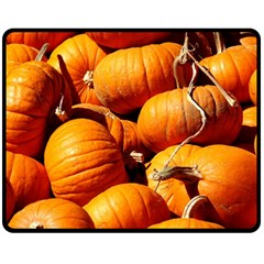 Pumpkins 3 Fleece Blanket (medium)