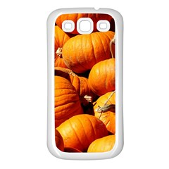 Pumpkins 3 Samsung Galaxy S3 Back Case (white)