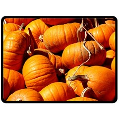 Pumpkins 3 Double Sided Fleece Blanket (large)