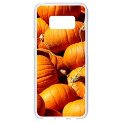 Pumpkins 3 Samsung Galaxy S8 White Seamless Case