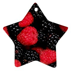 Raspberries 1 Star Ornament (two Sides)