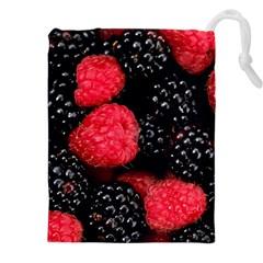 Raspberries 1 Drawstring Pouches (xxl)