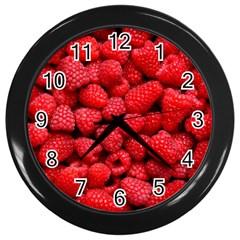 Raspberries 2 Wall Clocks (black)