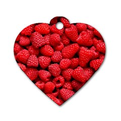 Raspberries 2 Dog Tag Heart (one Side)