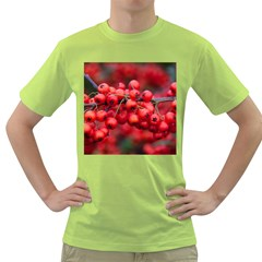 Red Berries 1 Green T Shirt